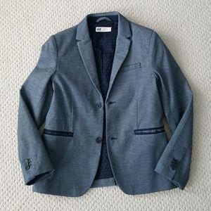 😀H&M🤗 Blazer Button Jacket Blue sz 8-9 Easter